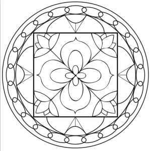 Comment colorier un mandala les couleurs de la vie - Dessin vitraux ...