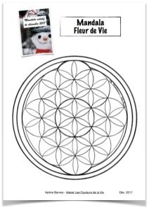 Mandala Creatif De Decembre 2017 La Fleur De Vie Atelier Les