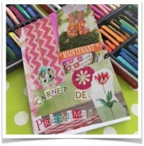 carnet de printemps collage